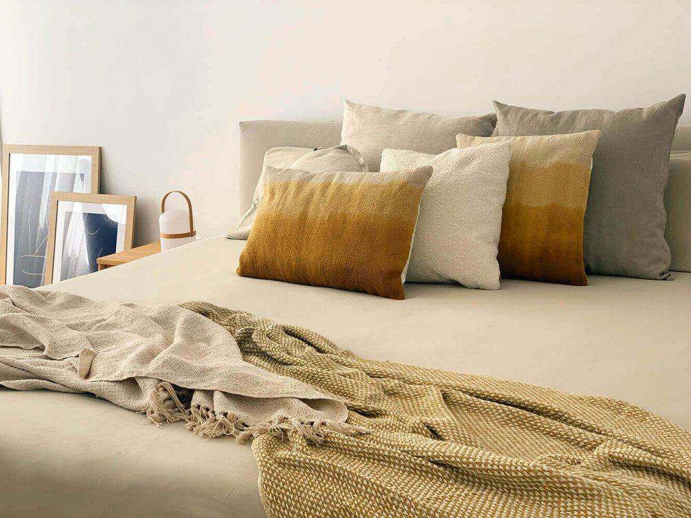 Detalles del textil seleccionado para el proyecto de interiorismo en Marques de Cenia de Trends Studio