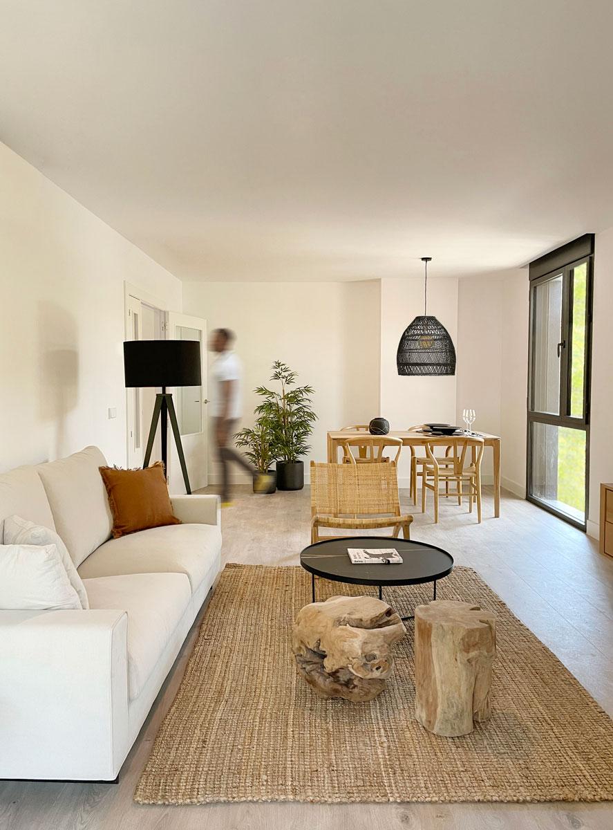 interiorismo salón comedor piso gestilar